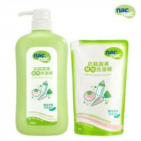NAC NAC 奶瓶蔬果洗潔精+補充包(合計 1300ML)