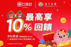 街口支付新春活動 最高享10%+3%回饋